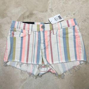 NWT J Brand striped denim cutoff shorts